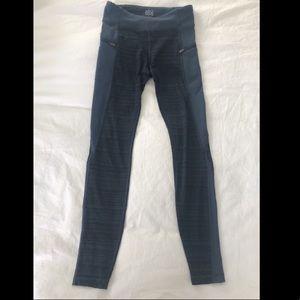 Athleta Girl Blue Leggings with Zipper Pockets